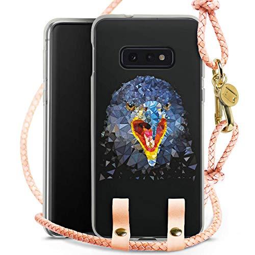 e kompatibel mit Samsung Galaxy S10e Hülle zum Umhängen Handykette Raven Rabe Bird ()