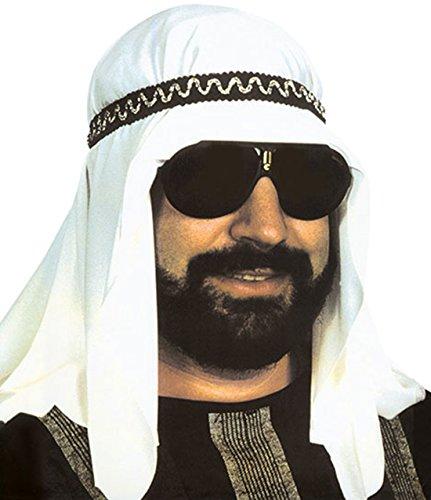 Faschingsfete Kopfbedeckung Scheich- Araber Kostüm Ghutra Kopftuch Kufiya - ägyptische Kleidung, Mehrfarbig