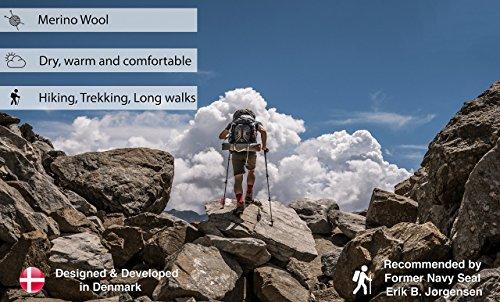 #Merinowolle Wander- und Trekkingsocken (Braun – 1 Paar, EU 35-38 // UK 3-5)#