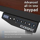 FLEXISPOT E2B Höhenverstellbarer Schreibtisch Elektrisch Höhenverstellbares Tischgestell, Passt für Alle Gängigen Tischplatten. mit Memory-Steuerung und Softstart/-Stop. (Tischgestell-2 Fach Schwarz) - 5