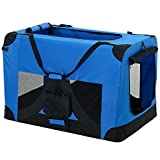 [pro.tec] Hundetransportbox (königsblau - faltbar) Gr. XL
