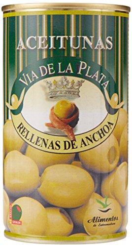 Aceitunera del Guadiana Aceitunas Rellenas de Anchoa, 3er Pack (3 x 0.35 kg)