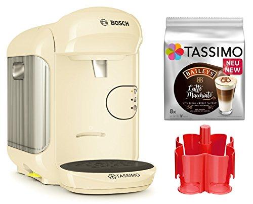 Bosch TASSIMO Vivy 2 Bundle + Spender + TDiscs Heißgetränkemaschine (Creme)