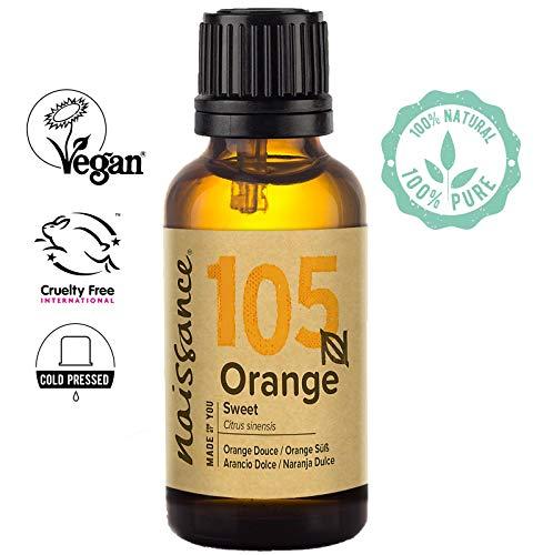 Naissance Aceite Esencial de Naranja Dulce 30ml - 100% puro, vegano y no OGM