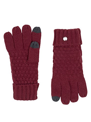 Bench Damen Handschuhe 5 Finger Glove with Etips, Rot (Cabernet Rd11343), One size