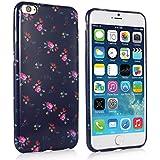 iHarbort® iPhone 6 Plus Hülle - Weich TPU Silikon Malerei blume Hülle Case Tasche Schutzhülle für Apple iPhone 6 Plus iPhone 6 + (5,5 zoll-Schwarz)