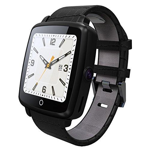 128mb 64mb Flash (Bluetooth SmartWatch, focipow Handgelenk Uhren Bluetooth 4.0mit Sleep Monitor Smartwatch unterstützt SIM-Karte/TF Karte mit Schrittzähler Kamera Schlaf Monitor für Android)