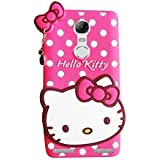 Qzey Cute Hello Kitty Back Cover For Lenovo K6 Power - Pink