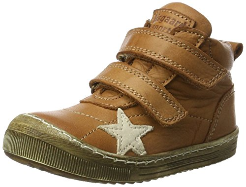 Bisgaard Unisex-Kinder Klettschuhe Hohe Sneaker, Braun (500 Cognac), 25 EU