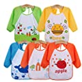 JT-Amigo Unisex Baby Waterproof Sleeved Bib, Set of 5 by JT-Amigo