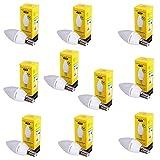 PATONA 10x LED Lampe E14 SMD 2835 5,5W 230V 3000K 470lm warmweiß Milchglas Aluminium 40W Glühbirne Kerze Energieklasse A+