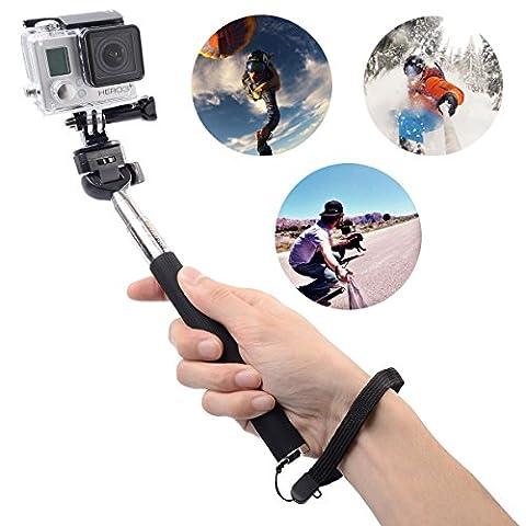 XCSOURCE auto-verrouillage télescopique pôle extensible Caméra à l'épaule et trépied pour GoPro Hero 1 2 3 3+ 4 OS010