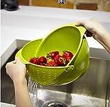 Best Fruit Bowl - Electomania™ Plastic Vegetable Fruit Basket Rice Wash Sieve Review