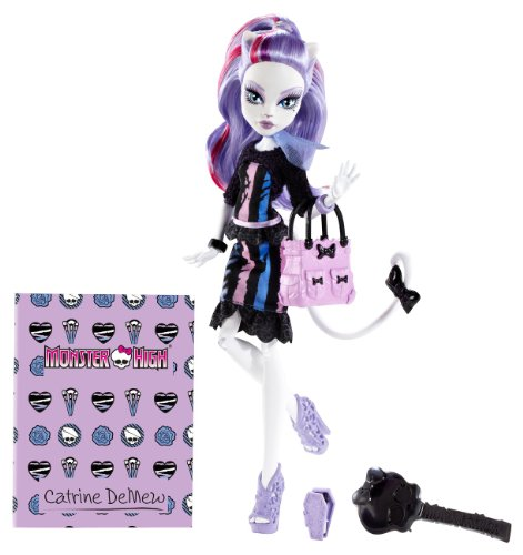 Mattel Monster High BGT39 -  New Scare-mester Catrine DeMew, Puppe mit (Puppen High Monster Neue)