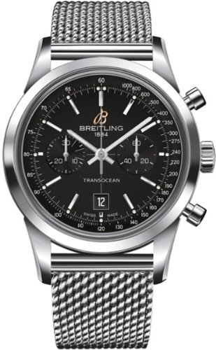 Breitling Transocean Chronograph 38 Automatic Stainless Steel Mens Luxury Watch a4131012/bc06