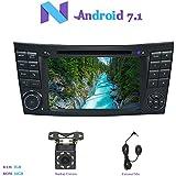"""Android 7.1 Autoradio, Hi-azul 2 Din Radio de Coche 7"""" Navegación GPS Auto Radio Estereo con Pantalla Multitáctil y Reproductor De DVD para Mercedes-Benz E-W211/E200/E220/E240/E270/E280 (con Cámara de Visión Trasera)"""