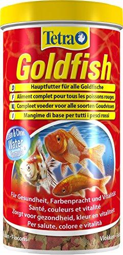 Tetra Goldfish, Flockenfutter für alle Goldfische und andere Kaltwasserfische, 1 Liter Dose