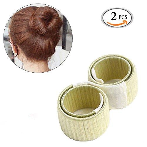 Hair Bun Maker Travelmall Fashion Haar Styling Tool 2 Stücke (Beige)