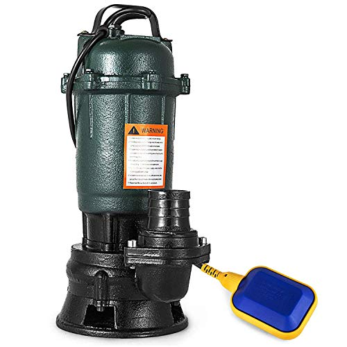 Moracle Bomba Sumergible de Aguas Residuales Sucias de la Bomba de Aguas Residuales 500W 230V con el Interruptor Flotante