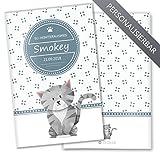 EU-Heimtierausweis Hülle / Impfpasshülle Lovely Kittens personalisierbare Schutzhülle (Heimtierausweis personalisiert, Smokey)