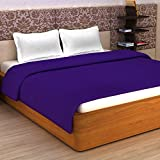 #1: Story@Home Super Soft Plain Polar Fleece Double Blanket - Purple
