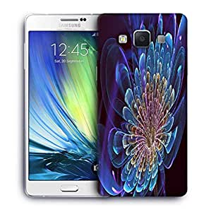 Snoogg Neon Petals Printed Protective Phone Back Case Cover For Samsung Galaxy A7