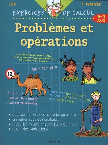 Problèmes et opérations : 8-9 ans