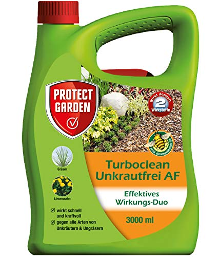 PROTECT GARDEN Turboclean Unkrautfrei AF (ehem. Bayer Garten), anwendungsfertiger Unkrautvernichter, 3 Liter