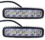 Leetop 2X 18W LED Offroad Flutlicht Reflektor Scheinwerfer Arbeitslicht SUV, UTV, ATV Arbeitsscheinwerfer Zusatzscheinwerfer Offroad Scheinwerfer 10V~30V Rückfahrscheinwerfer