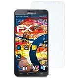 atFolix Panzerfolie für Samsung Galaxy Note 3 Neo (SM-N7505) Folie - 3 x FX-Shock-Clear stoßabsorbierende ultraklare Displayschutzfolie