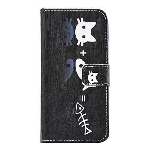 GHC Cases & Covers, Für iPhone 7 Katze und Fisch Muster Horizontale Flip PU Ledertasche mit Halter & Card Slots & Wallet ( SKU : IP7G2264F ) IP7G2264A