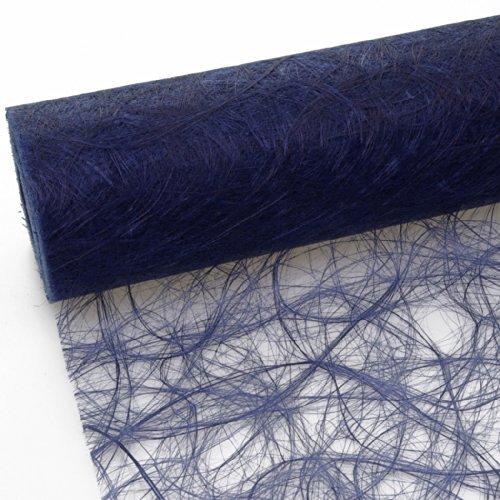 Deko AS GmbH Sizoweb Tischband dunkelblau 30 cm Rolle 25 Meter - 64 035-R 300