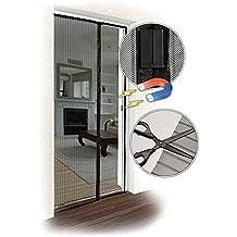 JAROLIFT Mosquitera Cortina magnética para puertas 160 x 230cm, negro, individual cortable (Ancho y altura)