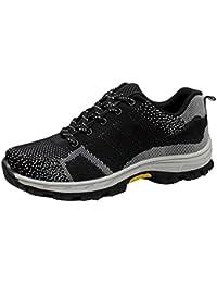 Hombres de Verano Zapatos Los Zapatos de Seguridad durables de la Moda de los de Seguridad de Trabajo de Acero Zapatos de Deportes cómodos Respirables Zapatos para Correr