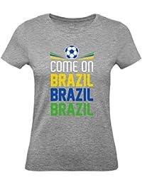 Green Turtle T-Shirts Camiseta para Mujer - Vamos Brasil - Apoya a la Selección
