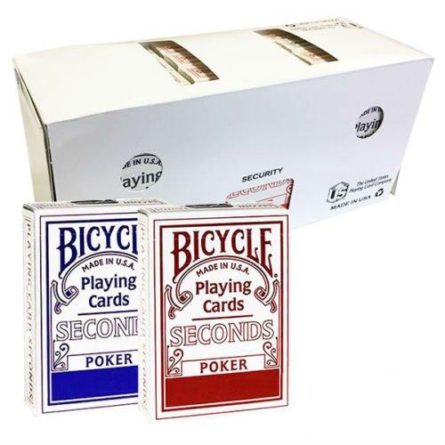 Shop4top 12 Decks Bicycle Seconds Standard Index Spielkarten Versiegelt Box Case USPCC