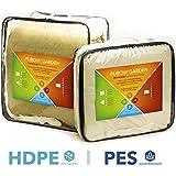 Purovi® Sonnensegel Rechteck | verschiedene Größen | UV Schutz | wasserabweisend PES oder atmungsaktiv HDPE | 3,5m x 4,5m aus PES