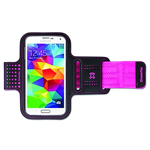Xtrememac Neoprene Sports Armband Case Cover for Apple iPhone 6, Samsung Galaxy S5 - Pink