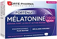 Forté Pharma Mélatonine 1900 Flash 30 comprimés |Complément Alimentaire Sommeil à base de Mélatonine
