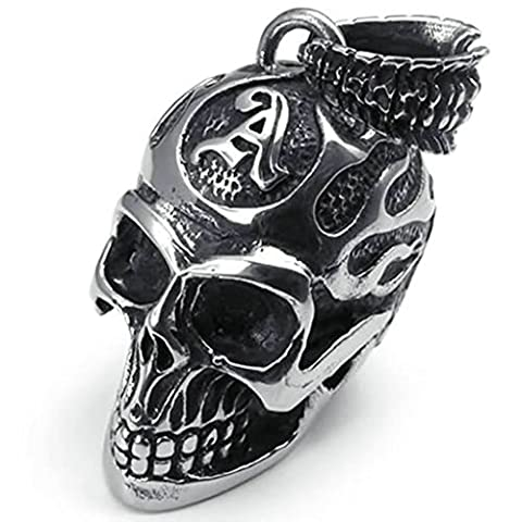 AMDXD Jewelry Vintage Necklace,Stainless Steel Pendant Necklaces for Men Gothic Skull Biker 22 Inch