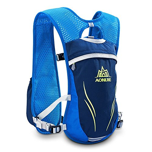 Imagen de aonijie– de hidratación  6l con 1l agua vejiga/350ml botellas ligero  para ciclismo running, anj885 blue 350ml alternativa