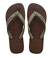 The H. Brasil Logo by Havaianas will be your go-to everyday flip-flop because of its classic style and function. The rubber soles are built to support and cushion your feet all day long. You will not sacrifice style or function with the H. Br...