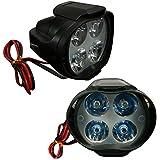 Vheelocityin L3 4 Led Bike / Motorcycle Fog Light Lamp - Set Of 2