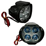 #8: Vheelocityin L3 4 LED Bike / Motorcycle Fog Light Lamp - Set of 2