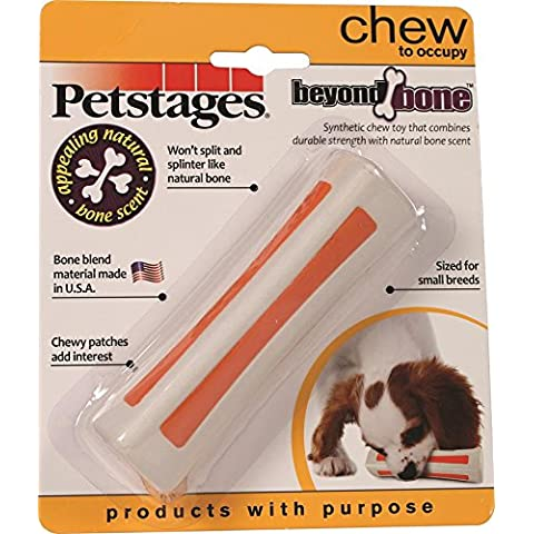 Petstages 597 Beyond Bone Synthetic Chew Dog Toy White, Small by Petstages