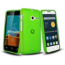 VERDE FUNDA DE GEL SILICONA PARA VODAFONE SMART FIRST 6 / ORANGE RISE / ALCATEL PIXI 3 (4) - Envio por mensajeria URGENTE