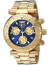 Invicta Men's 'Subaqua' Quartz Stainless Steel Casual Watch, Color:Gold-Toned (Model: 25799)