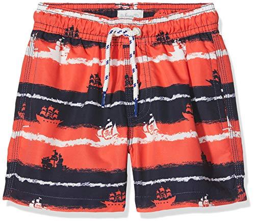 Sanetta Jungen Swim Trunks Woven Badeshorts, Rot (Coral 38067), 92 - Jungen Badehose Swim Trunks
