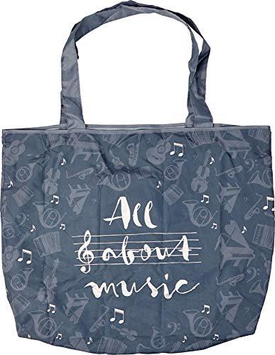 All About Music Valises Accessoires Femme Sacs à Main Pliables Série Gris