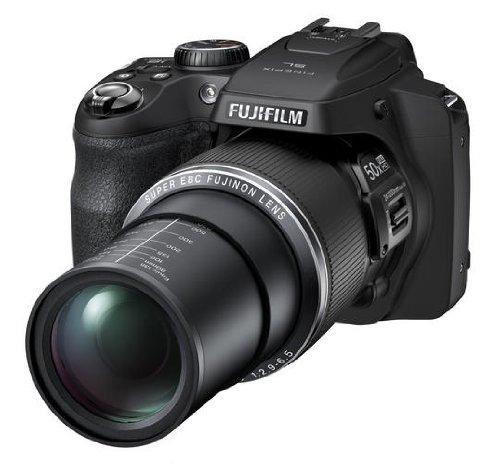 Fujifilm finepix sl1000 fotocamera digitale, 16 megapixel, sensore cmos-bsi, zoom 50x, stabilizzatore meccanico, nero